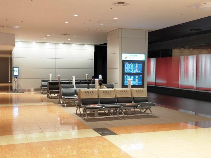 羽田第2ターミナル・国際線エリア接続部のスペース